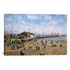 iCanvasArt 'Mcfadden Wharf, California 1900' by Stanton Manolakas Painting Print on Canvas