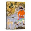 iCanvasArt Islamic Man with a Saluki Islamic Painting Print on Canvas