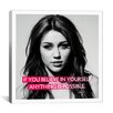 iCanvasArt Miley Cyrus Quote Canvas Wall Art