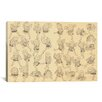 iCanvasArt 'Manga Dancing' by Katsushika Hokusai Graphic Art on Canvas