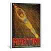 iCanvasArt Martini (Vermouth Martini & Rossi) Advertising Vintage Poster Canvas Print Wall Art