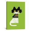 iCanvas 'Mark Batcat' by Budi Satria Kwan Graphic Art on Canvas