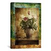 "iCanvasArt ""Leopard Roses"" Photographic Art on Canvas Wall Art by Luz Graphics"