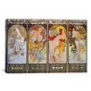iCanvas 'Les Saisons' by Alphonse Mucha Graphic Art on Canvas