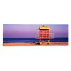 iCanvasArt Panoramic Lifeguard Hut, Miami Beach, Florida Photographic Print on Canvas