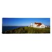 iCanvasArt Panoramic Fort Worden Lighthouse, Port Townsend, Washington State Photographic Print on Canvas
