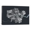 iCanvasArt 'London Text Map' by Michael Tompsett Textual Art on Canvas