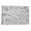 iCanvas 'London Map V' by Michael Thompsett Graphic Art on Canvas