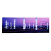 iCanvasArt Panoramic Light Sculptures Lit up at Night, Lax Airport, Los Angeles, California Photographic Print on Canvas