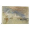 iCanvas 'Looking Towards the Dogana and San Giorgio Maggiore, with a Storm Approaching, Venice 1834' by Joseph William Turner Painting Print on Canvas