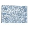 iCanvas 'London Map II' by Michael Thompsett Graphic Art on Canvas