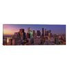 <strong>iCanvasArt</strong> Panoramic 'Los Angeles Skyline Cityscape (Sunset)' Photographic Print on Canvas