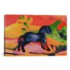 iCanvas 'Little Blue Horse' by Franz Marc Painting Print on Canvas