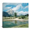 "iCanvas ""Lost Mountain by the Lake"" Canvas Wall Art by Carl Rosen"