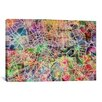 iCanvasArt 'London Map Watercolor II' by Michael Tompsett Graphic Art on Canvas