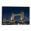iCanvasArt Skylines and Cityscapes London Tower Bridge at Night Photographic Print on Canvas