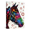 iCanvas 'Lonely Horse' by Dean Russo Graphic Art on Canvas