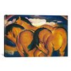 iCanvas 'Little Yellow Horses' by Franz Marc Painting Print on Canvas