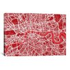 iCanvas 'London Map III' by Michael Thompsett Graphic Art on Canvas