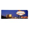 iCanvas Panoramic Las Vegas Sign, Las Vegas Nevada Photographic Print on Canvas