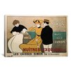 <strong>iCanvasArt</strong> La Caisse Simon (Huitres Exquises) Vintage Advertisement on Canvas