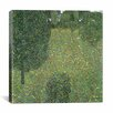 iCanvas 'Landscape Garden (Meadow)' by Gustav Klimt Painting Print on Canvas