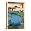 iCanvas 'Kumanoj Nisha Shrine, 1856' by Utagawa Hiroshige Painting Print on Canvas