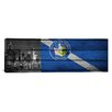 "iCanvas Las Vegas Flag, ""New York"" with Wood Planks Panoramic Graphic Art on Canvas"