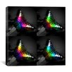 <strong>iCanvasArt</strong> Rainbow Colored Butterfly Photographic Canvas Wall Art
