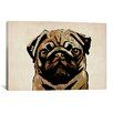 <strong>iCanvasArt</strong> 'Pug Dog' by Michael Tompsett Graphic Art on Canvas