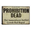 iCanvasArt Color Bakery 'Prohibition' Textual Art on Canvas