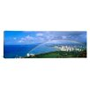 iCanvasArt Panoramic Rainbow Over A City, Waikiki, Honolulu, Oahu, Hawaii Photographic Print on Canvas