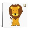 iCanvas Kids Art L is for Lion Graphic Canvas Wall Art