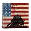 iCanvas Raising the Flag on Iwo Jima, US Constitution Graphic Art on Canvas