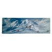 iCanvasArt Panoramic Rear View of a Person Skiing in Snow, St. Christoph, Austria Photographic Print on Canvas
