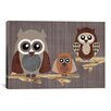 <strong>'Owls' by Erin Clark Graphic Art on Canvas</strong> by iCanvasArt