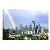 iCanvas Panoramic Rainbow, Seattle, Washington Photographic Print on Canvas