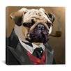 <strong>iCanvasArt</strong> 'Pug Clothes_001' by Brian Rubenacker Graphic Art on Canvas