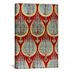 iCanvas Decorative 'Ottoman Tulips, Silk and Silver Lamella Textile' Graphic Art on Canvas