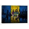 iCanvas Philadelphia Flag, Grunge City Skyline Graphic Art on Canvas