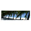 iCanvas Panoramic Palm Trees on the Beach, Aitutaki, Cook Islands Photographic Print on Canvas