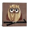 "iCanvasArt ""Owl 2"" Canvas Wall Art by Erin Clark"