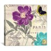 <strong>iCanvasArt</strong> Petals of Paris II from Color Bakery Canvas Wall Art