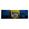 iCanvas Philadelphia Flag, Grunge City Skyline Panoramic Graphic Art on Canvas