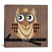 "iCanvas ""Owl 1"" Canvas Wall Art by Erin Clark"