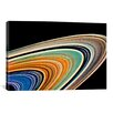 iCanvasArt Modern Art Rings of Saturn Graphic Art on Canvas