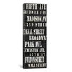 <strong>iCanvasArt</strong> Typography 'NYC Streets from Willow Way Studios, Inc' Textual Art on Canvas