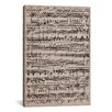iCanvas Modern Sheet Music Ode to Joy Textual Art on Canvas