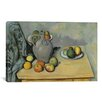 iCanvas 'Pichet Et Fruits Sur Une Table 1893-1894' by Paul Cezanne Painting Print on Canvas