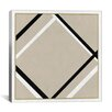 iCanvasArt Modern Art Lozenge with Four Lines Painting Print on Canvas